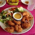 What a fun meal of coconut shrimp!
