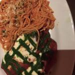 Eggplant Parm with Pesto Topping