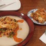 squid salad and kimchi