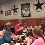 Our CraZy group enjoying a delicious meal at the Brandin' Iron Restaurant.