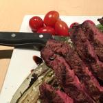 Flatiron steak salad with Gorgonzola