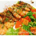 Fresh Prawns with salad