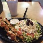 Chicken Souvlaki, Greel Salad, Soft Drink !!!