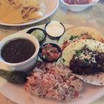Tacos, rice, and excellent black bean soup!