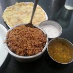 Briyani at a roadside restaurant nearby the hotel