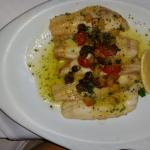 My main dinner (a white fish local to their waters) dish that I ordered. Absolutely delicious!!!