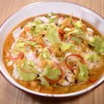 """""""Puu Phad Pong Gari"""" Stir fried crabmeat with curry and Chinese celery"""