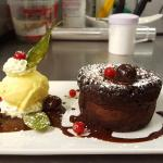 Chocolate fondant by chef Andrei Dumitrescu