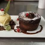 Chocolate fondant by chef Andrei Dumitrescu