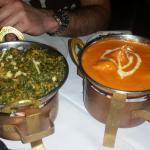 Lamb Saag and Chicken Tikka Massala