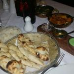 Garlic Naan, Pilau Rice and other Dishes