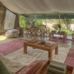 The lounge at Ol Pejeta Bush Camp
