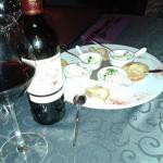 Petit apéro avec un excellent vin