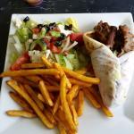 Gyro Plate:  Gyro, Fries and Salad