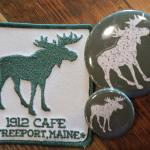 Moose patches and pins
