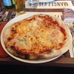Carpaccio et pizza 5 fromages