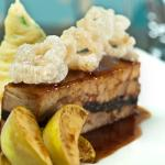 Belly pork and black pudding