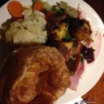 mega plate, although I only took one of the two Yorkshires I could have had
