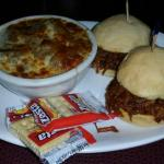 $8 lunch - Pork BBQ sliders & French onion soup