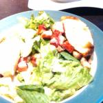 delicious warm goat cheese salad with bacon
