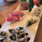Sushi and sashimi are very good.