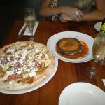 Pizza Alla Sergio and Melanzane Fritte Ripiene