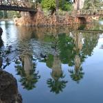 lago y puentes de acceso a la isla