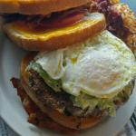 Vortex Burger with a fried egg
