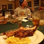More Ribs than I could eat! Wonderful corn loaf. every meal was wonderful.