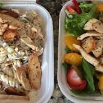 Chicken pasta salad & tropical chicken salad