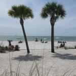 Perfect day at the beach in front of Cornerstone.    You can always tell a Cornerstone guest by