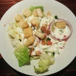 Awesome salad with ranch