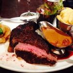14oz Rib Eye Steak with mushroom sauce