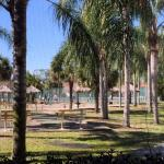 View from patio of tennis courts