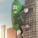 The Cleveland Pickle does a King Kong impression