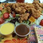 Jeep Ford salad with fried chicken--amazing!