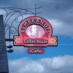 Rembrandt's Coffee House sign