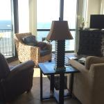 Comfortable recliner & couch. Satellite TV & internet - panaromic view from penthouse condo!