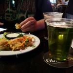 St. Patrick's day. Nice bartender and tasty food.