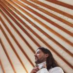 The Yurt was the perfect Groom's Quarters