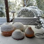 Snow on the terrace