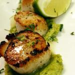 Scallops with Pea Puree.