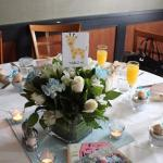 We purchased the centerpieces at Costco for $20 each. Our guests loved the Mimosas!