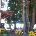 Mesas na praça
