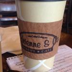 In between meetings. Great Coffee!