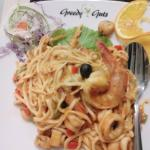seafood pasta. i really love it.