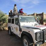 Sitting on the Roof of the car to get to Erg Chebbi. It was so much fun! Thank you Youssef!