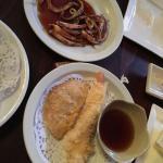 Tempora Taro & Shrimp, BBQ Squid