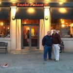 Out front of Sushi Palace with my brother an I