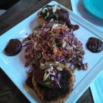 BBQ pulled pork cakes